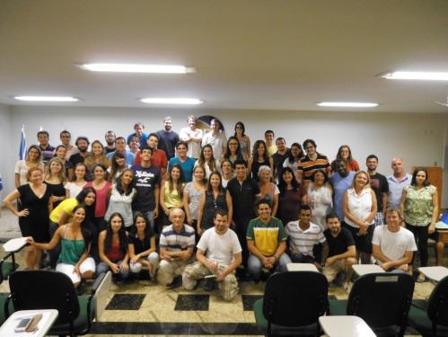 Equipe do laboratório de limnologia no workshop de final de ano, desta vez com a companhia dos nossos amigos do laboratório de ecologia de peixes