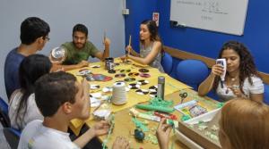 No Laboratório de Limnologia as atividades de planejamento começaram meses antes da exposição
